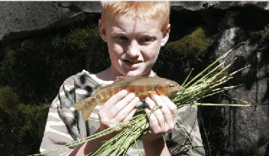 Boy with Golden Trout