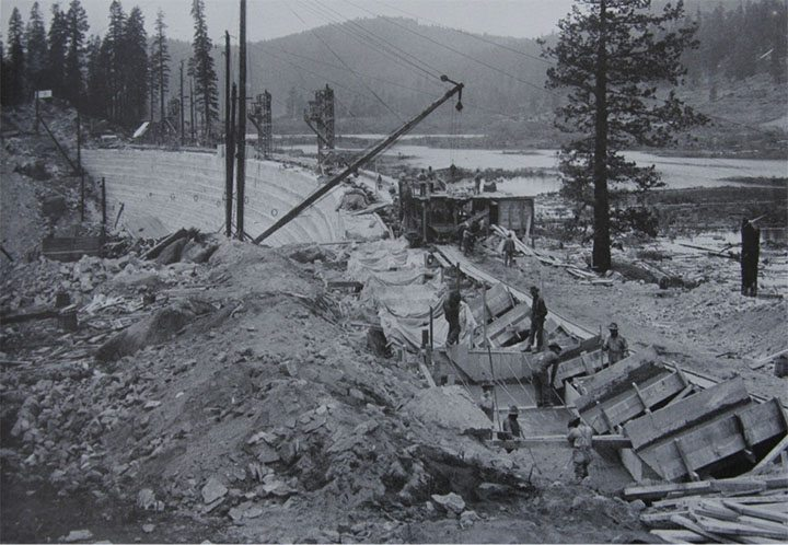 Huntington Lake Dam Work