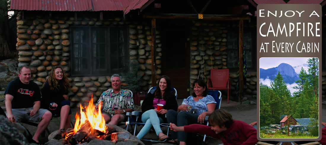 Enjoy a Campfire at Every Cabin