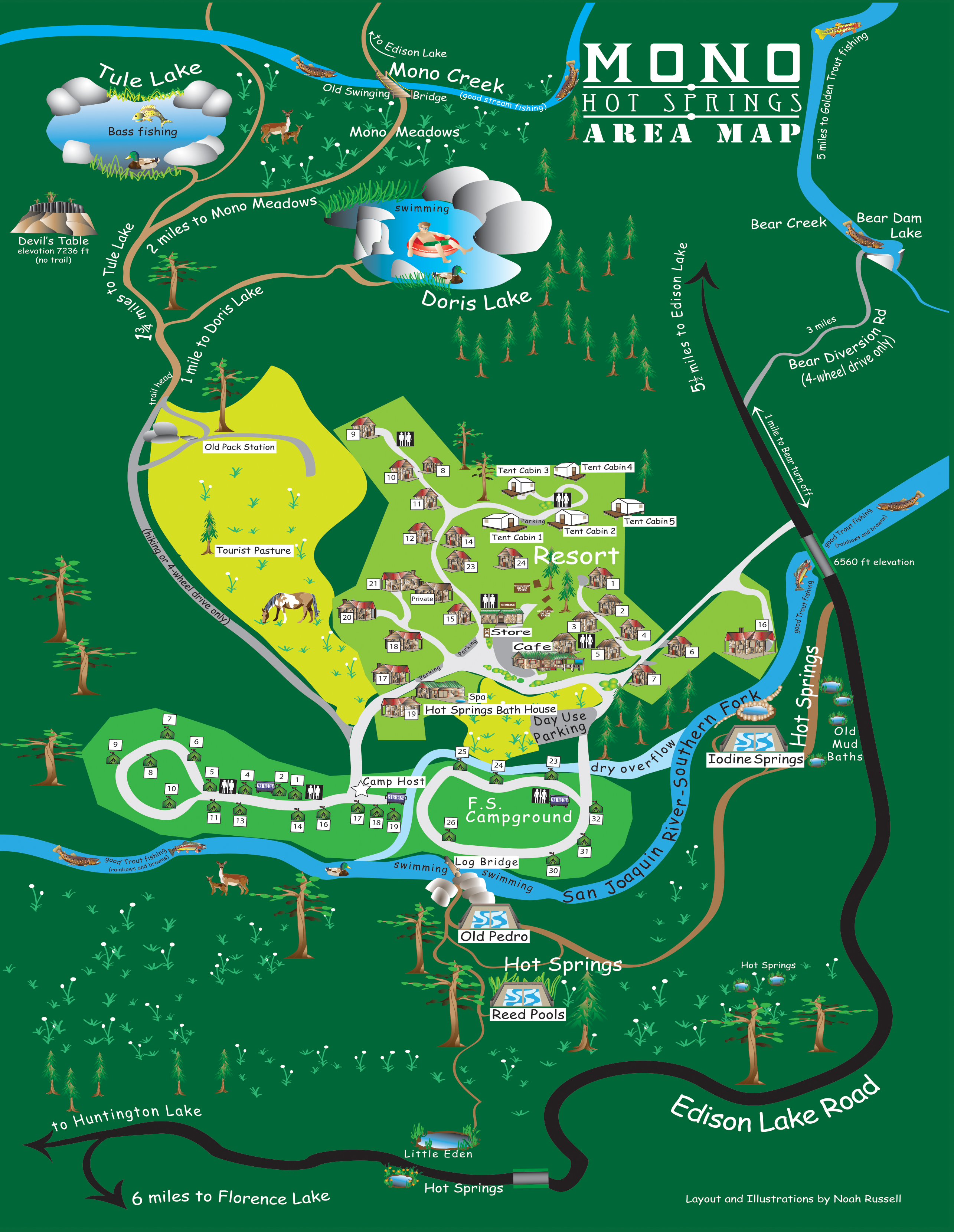 Facility Map Mono Hot Springs