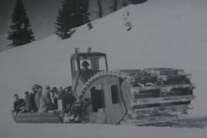 Early 1940 Sno Cat on Kaiser Pass Road.